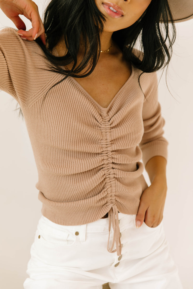 Maple Cinched Sweater - Luca + Grae