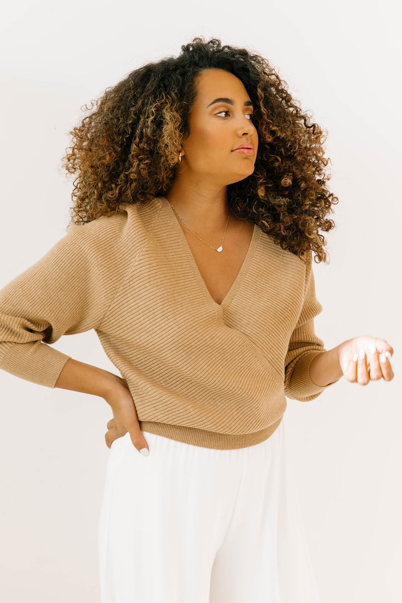 Central Park Wrap Sweater - Luca + Grae