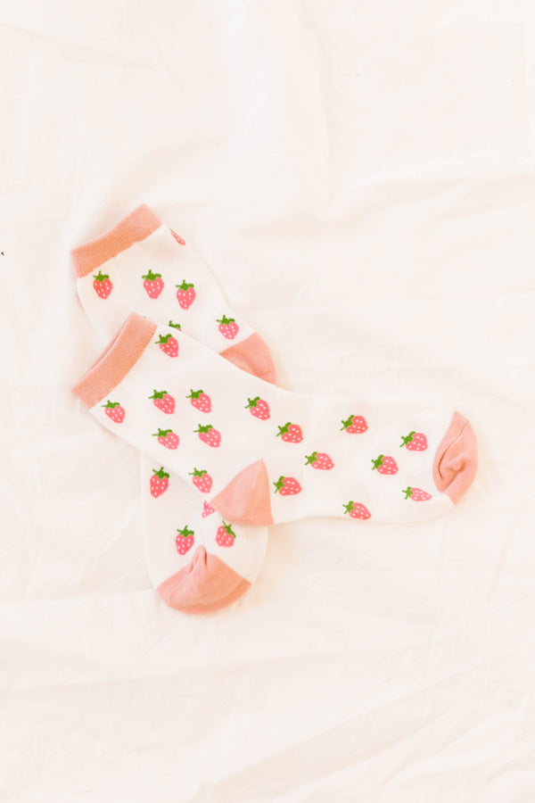 Strawberry Shortcake Socks - Luca + Grae