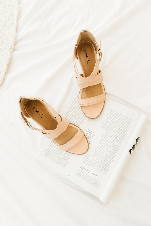 Lost Blush Strappy Heels - Luca + Grae