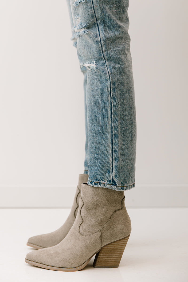 Vinya Grey Booties - Luca + Grae