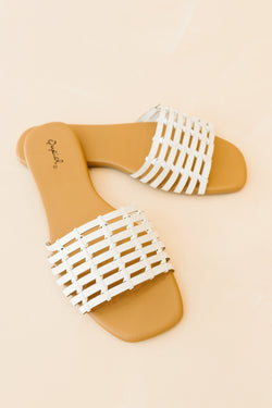 Dempsey White Sandals - Luca + Grae