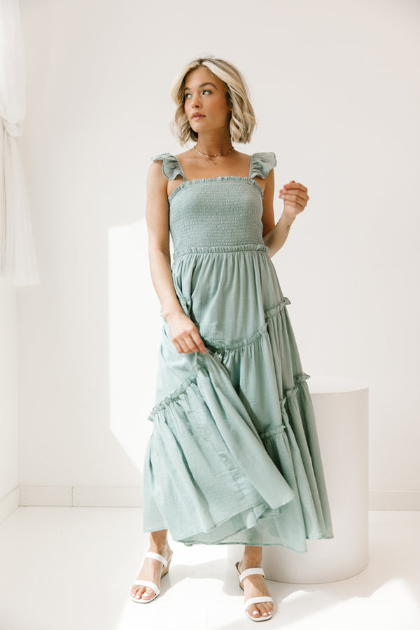Forever & Always Teal Dress - Luca + Grae