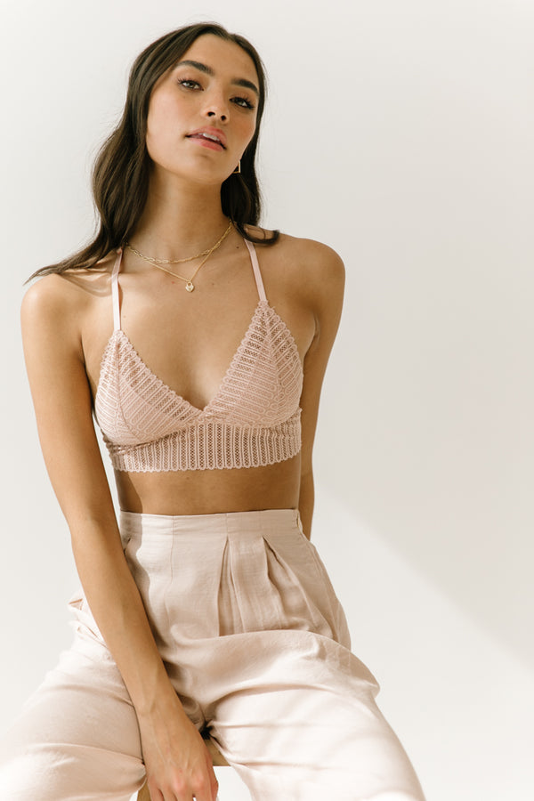 Bare Minimum Blush Bralette - Luca + Grae