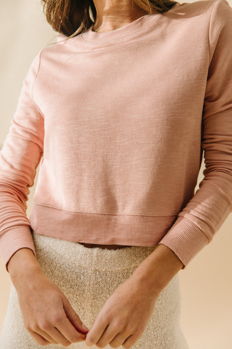 At Home Dusty Pink Pullover - Luca + Grae