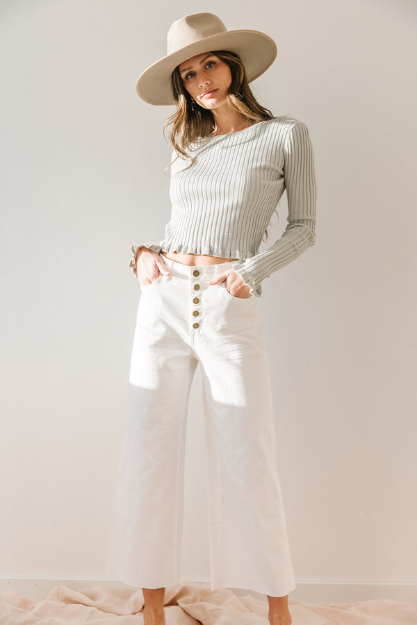 Chateau Ribbed Top - Luca + Grae