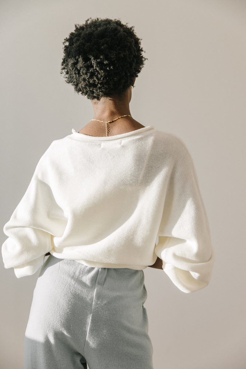 Amari Cream Sweater - Luca + Grae