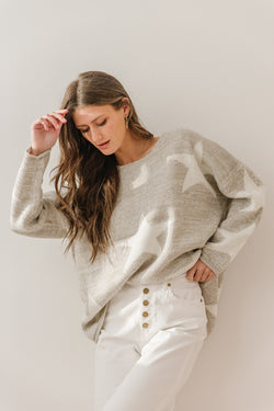 Silent Night Star Sweater - Luca + Grae