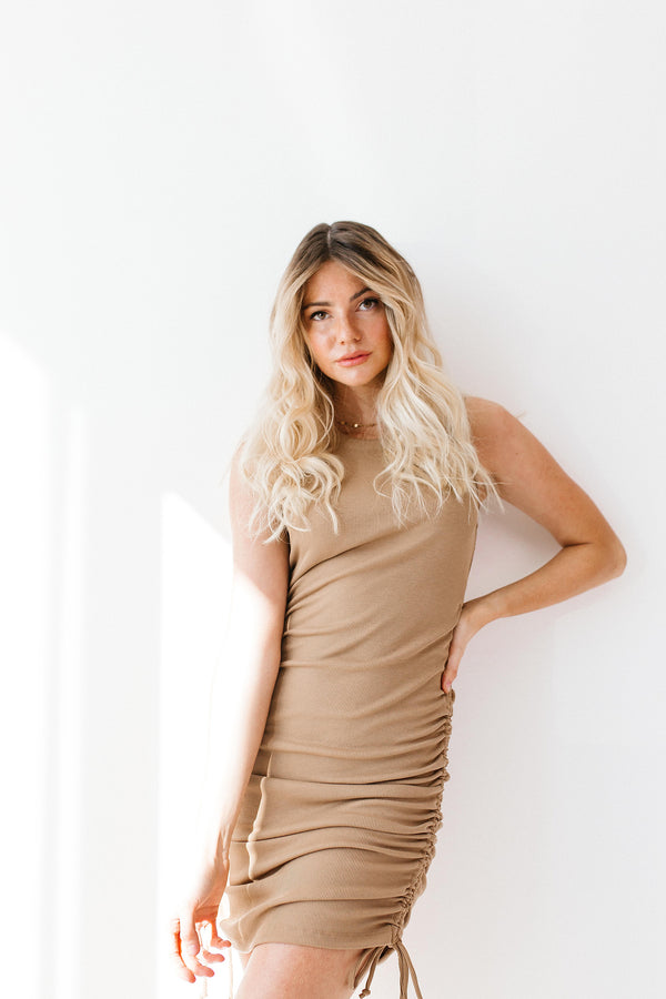 Object Of My Affection Camel Dress - Luca + Grae