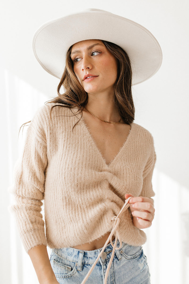 Champagne Problems Cinch Sweater - Luca + Grae