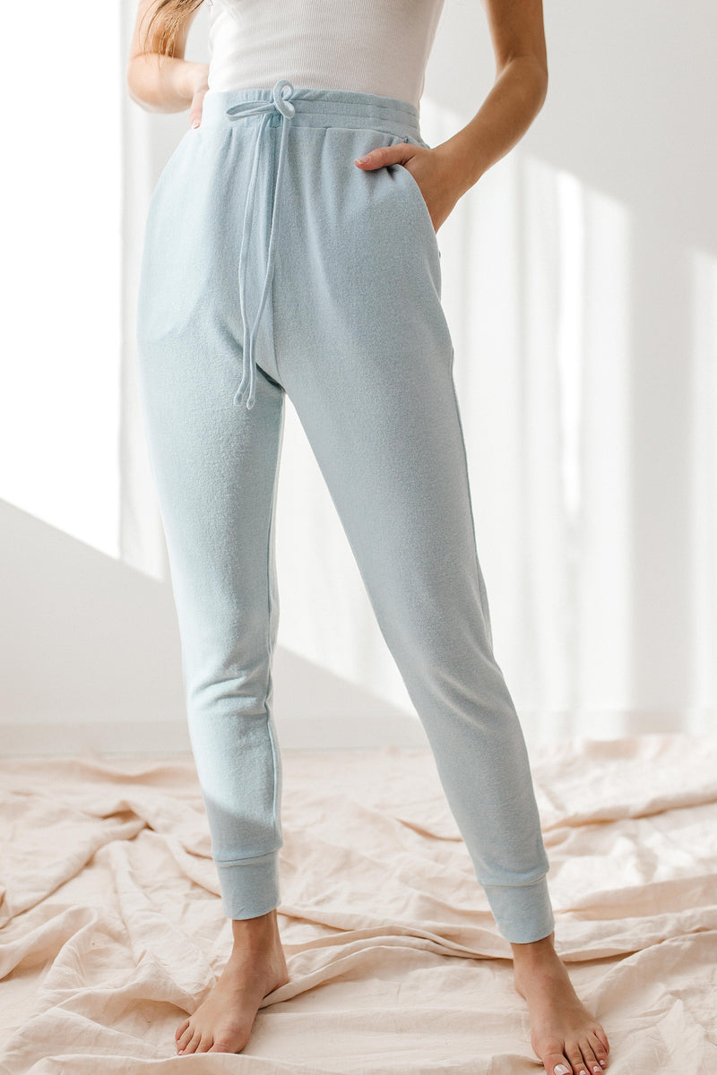 Lonely Light Blue Joggers - Luca + Grae