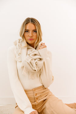 One I Want Ivory Scarf - Luca + Grae