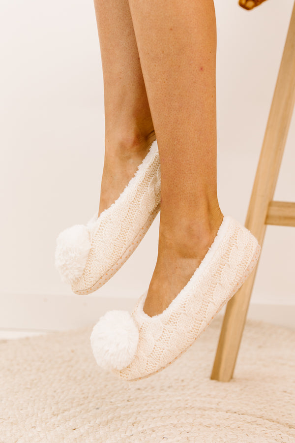 Baby Doll Ivory Slippers - Luca + Grae