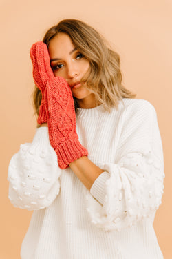 Nightingale Knit Mittens - Luca + Grae