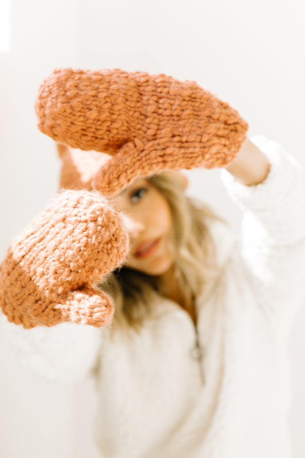 Star & Moon Rose Mittens - Luca + Grae