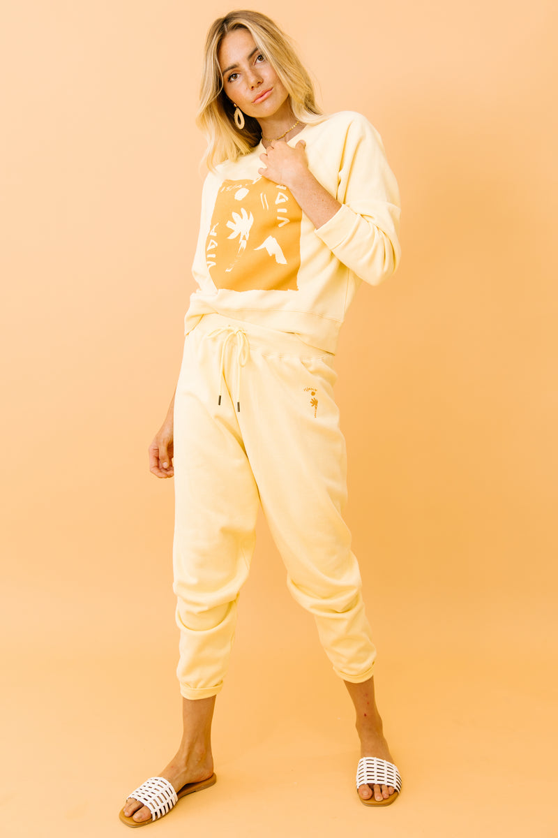 Vida Yellow Knit Pants - Luca + Grae