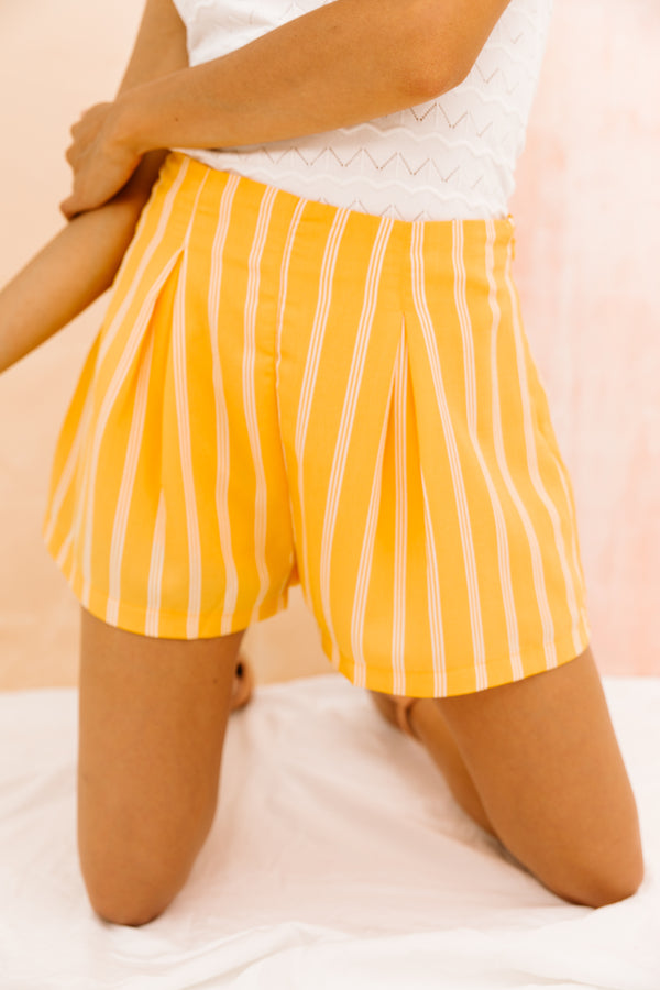 St. Tropez Yellow Shorts - Luca + Grae