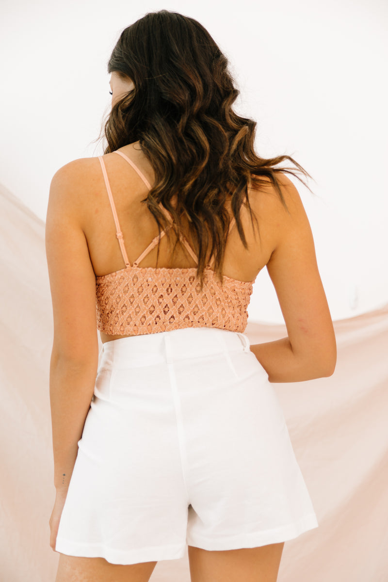 Hopeful Romantic Peach Bralette - Luca + Grae