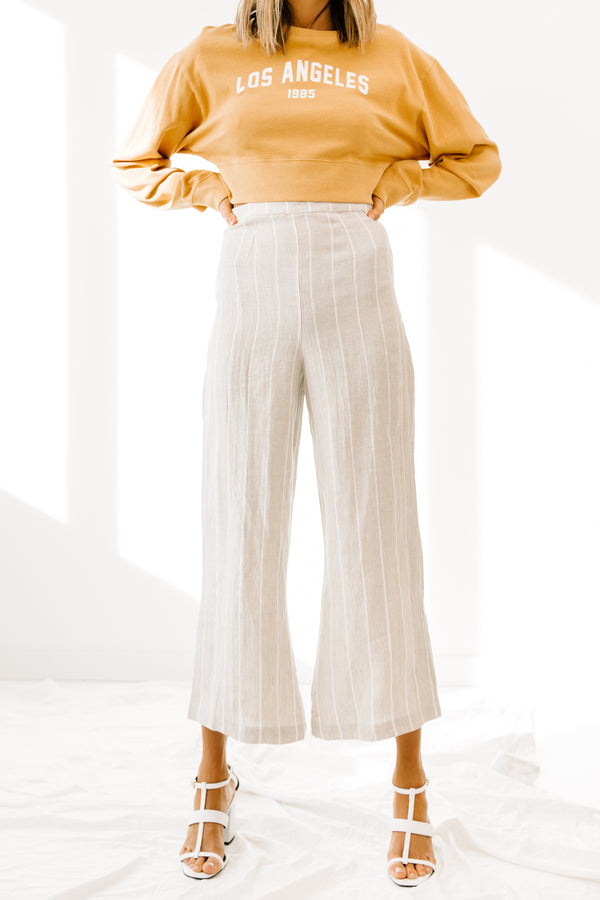 Finest Hour Beige Pants - Luca + Grae