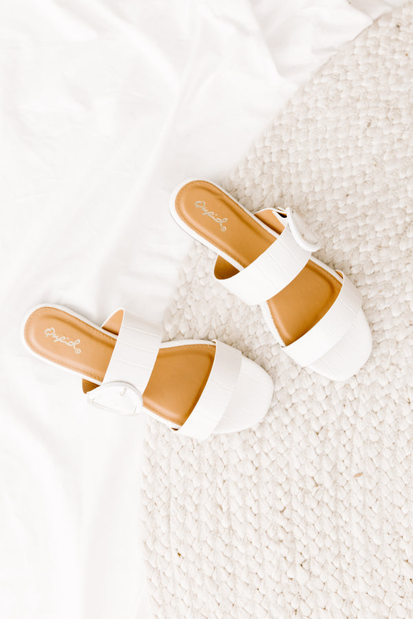 Hazy White Sandals - Luca + Grae