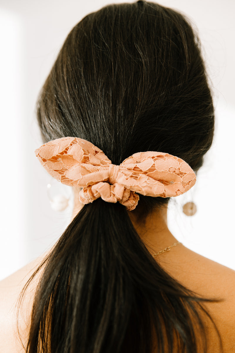 Lost & Wander Peach Scrunchie - Luca + Grae