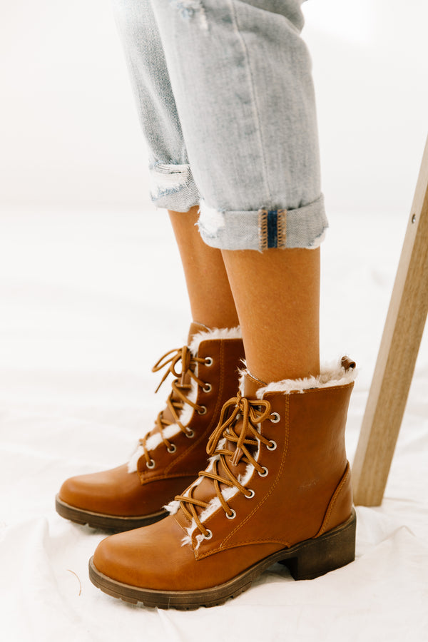 Paloma Brown Boots - Luca + Grae