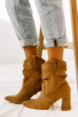 Mavis Tan Booties - Luca + Grae