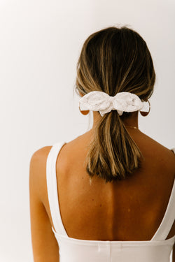 Lost & Wander White Scrunchie - Luca + Grae