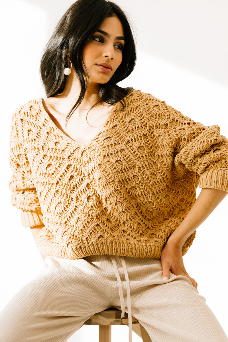 Play Fair Mustard Sweater - Luca + Grae