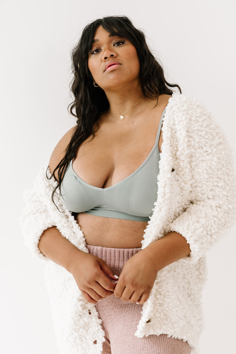 Curvy Run Away Teal Bralette - Luca + Grae
