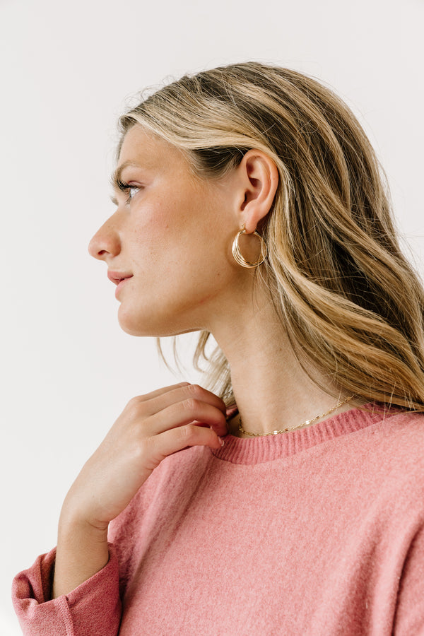 Maisy Twisted Hoops - Luca + Grae