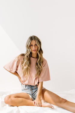 *Easy Breezy Dusty Mauve Tee - Luca + Grae