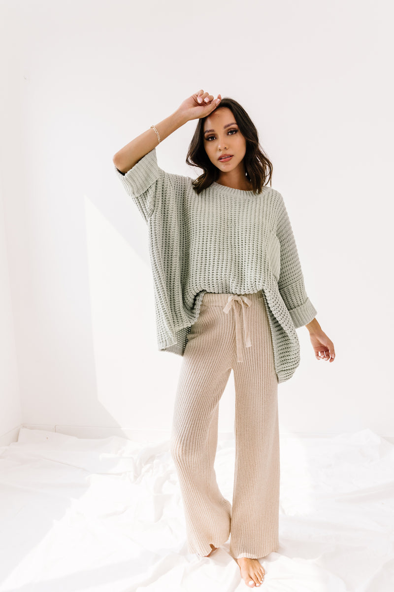 Like A Lady Sage Sweater - Luca + Grae
