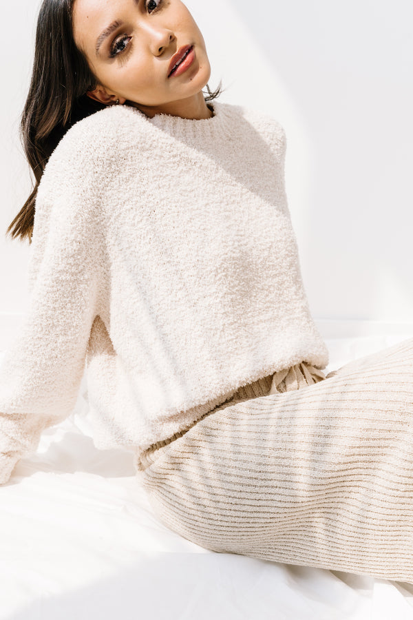 Cozy Cream Knit Sweater - Luca + Grae