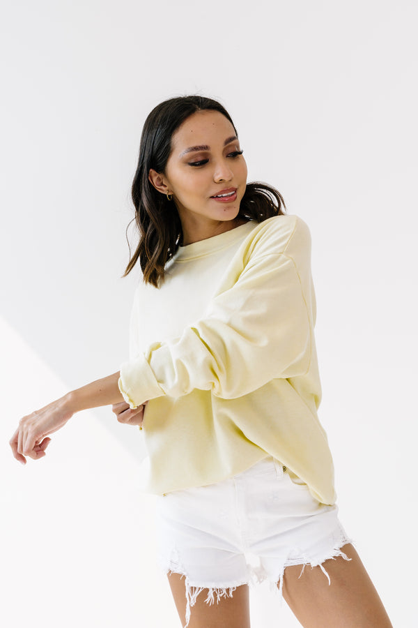 Palm Mills Yellow Pullover - Luca + Grae