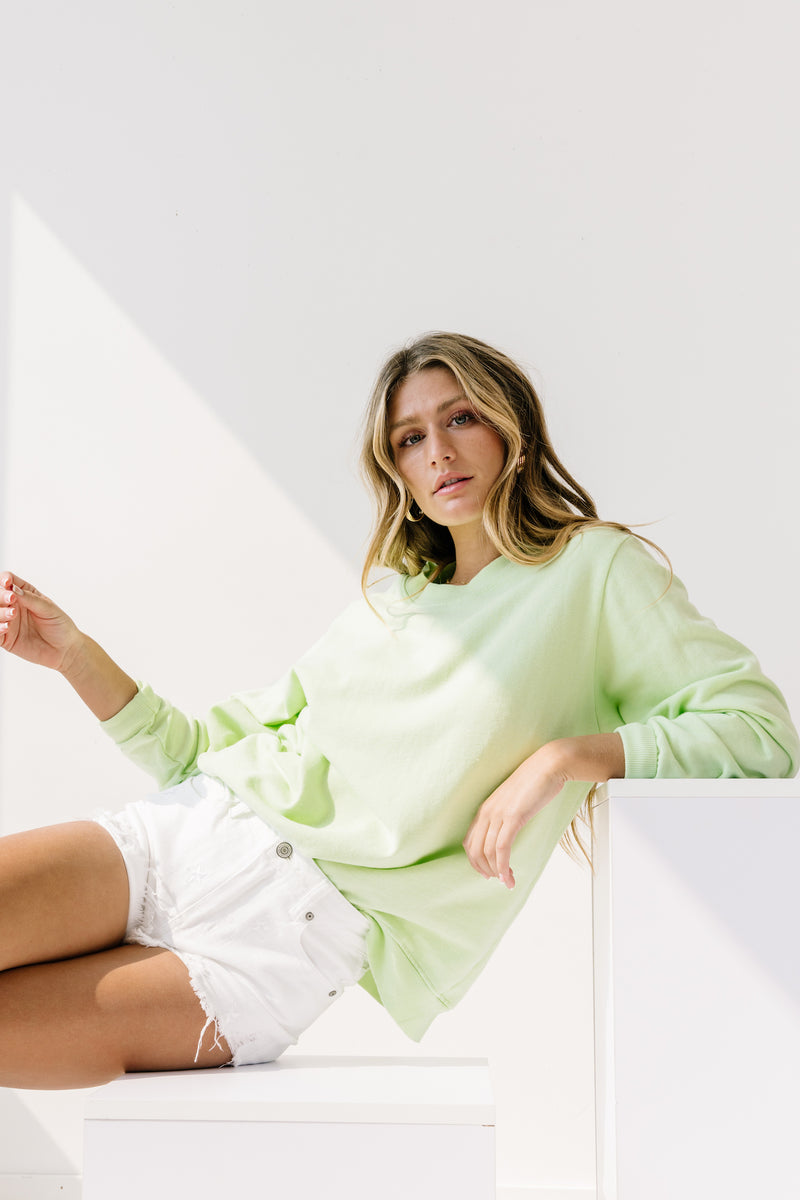 Palm Mills Green Pullover - Luca + Grae