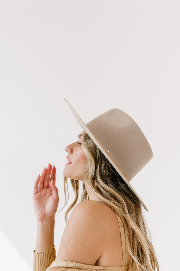 Gigi Taupe Rancher Hat - Luca + Grae