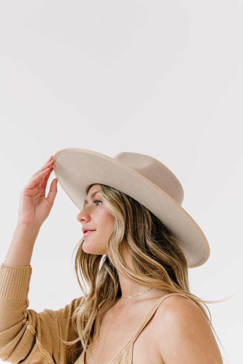 *Gigi Taupe Rancher Hat - Luca + Grae