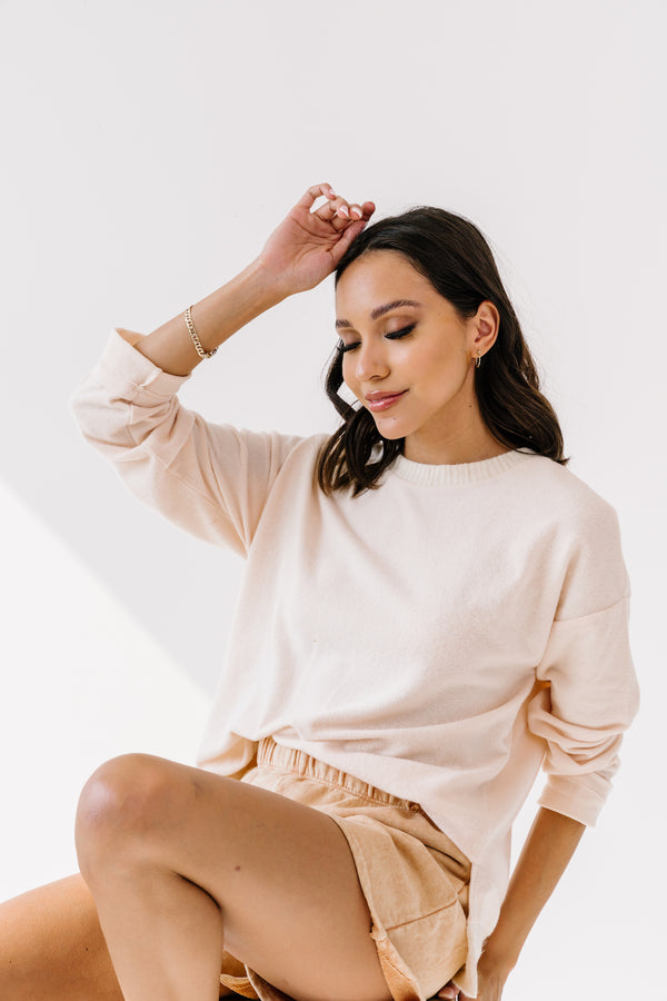 Brunch Date Cream Pullover - Luca + Grae
