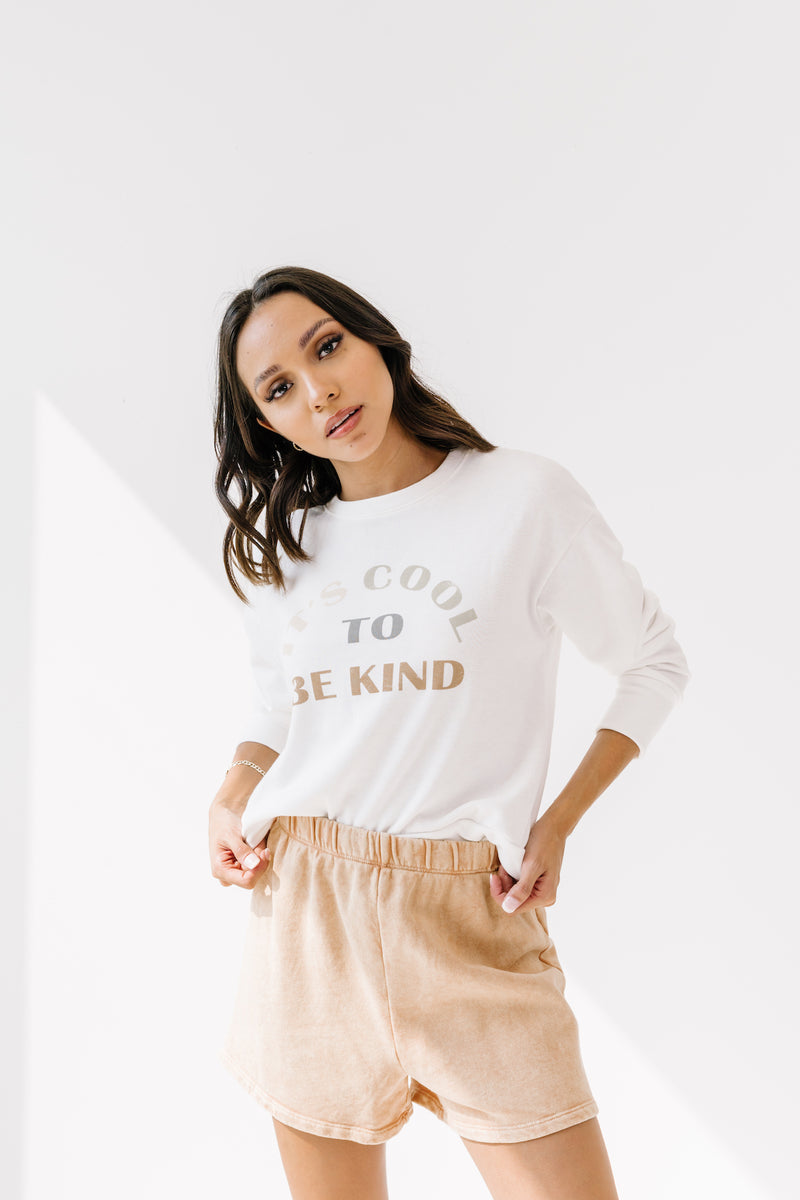 It's Cool To Be Kind Pullover - Luca + Grae