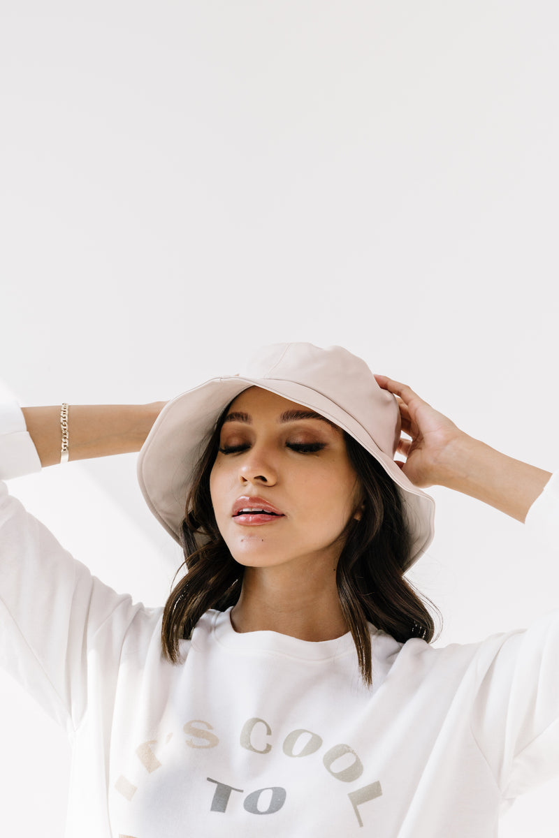 Nature Lover Ivory Bucket Hat - Luca + Grae