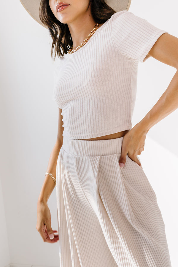 Sedona Cream Ribbed Set - Luca + Grae