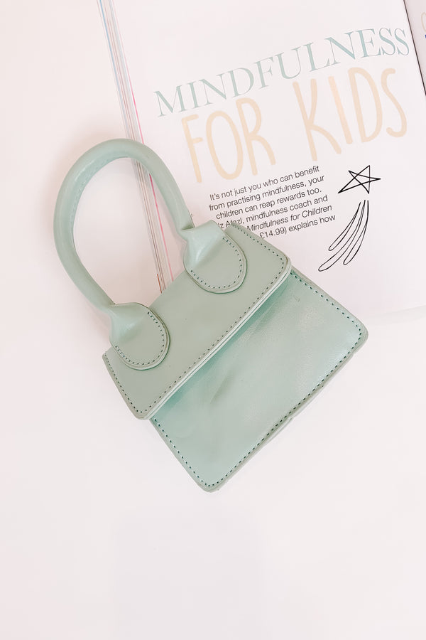 Dolled Up Mini Teal Handbag - Luca + Grae