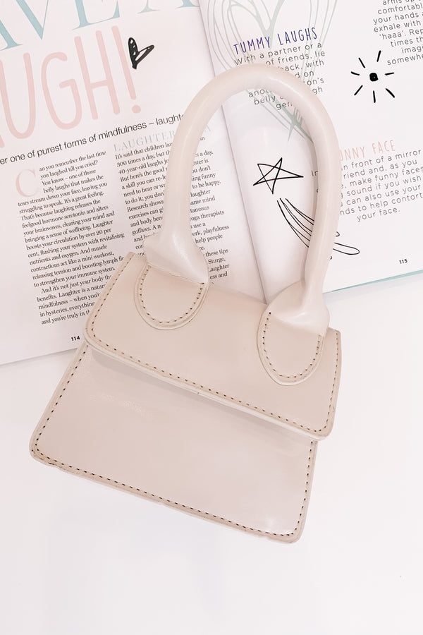 Dolled Up Mini Ivory Handbag - Luca + Grae