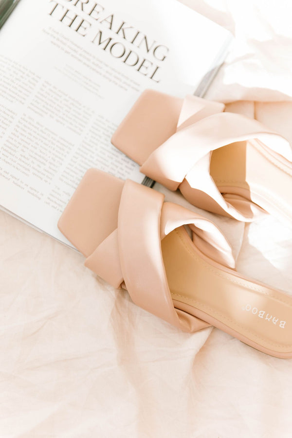 *Freya Blush Cross Strap Slides - Luca + Grae