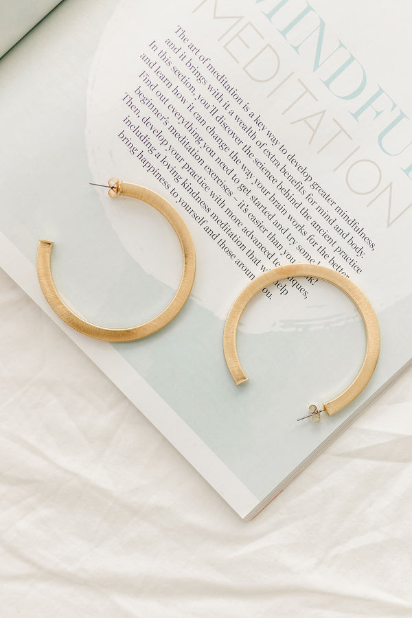 *Be Bold Gold Hoop Earrings - Luca + Grae
