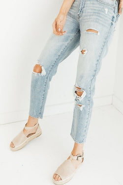 Fantasizing Light High Rise Jeans - Luca + Grae