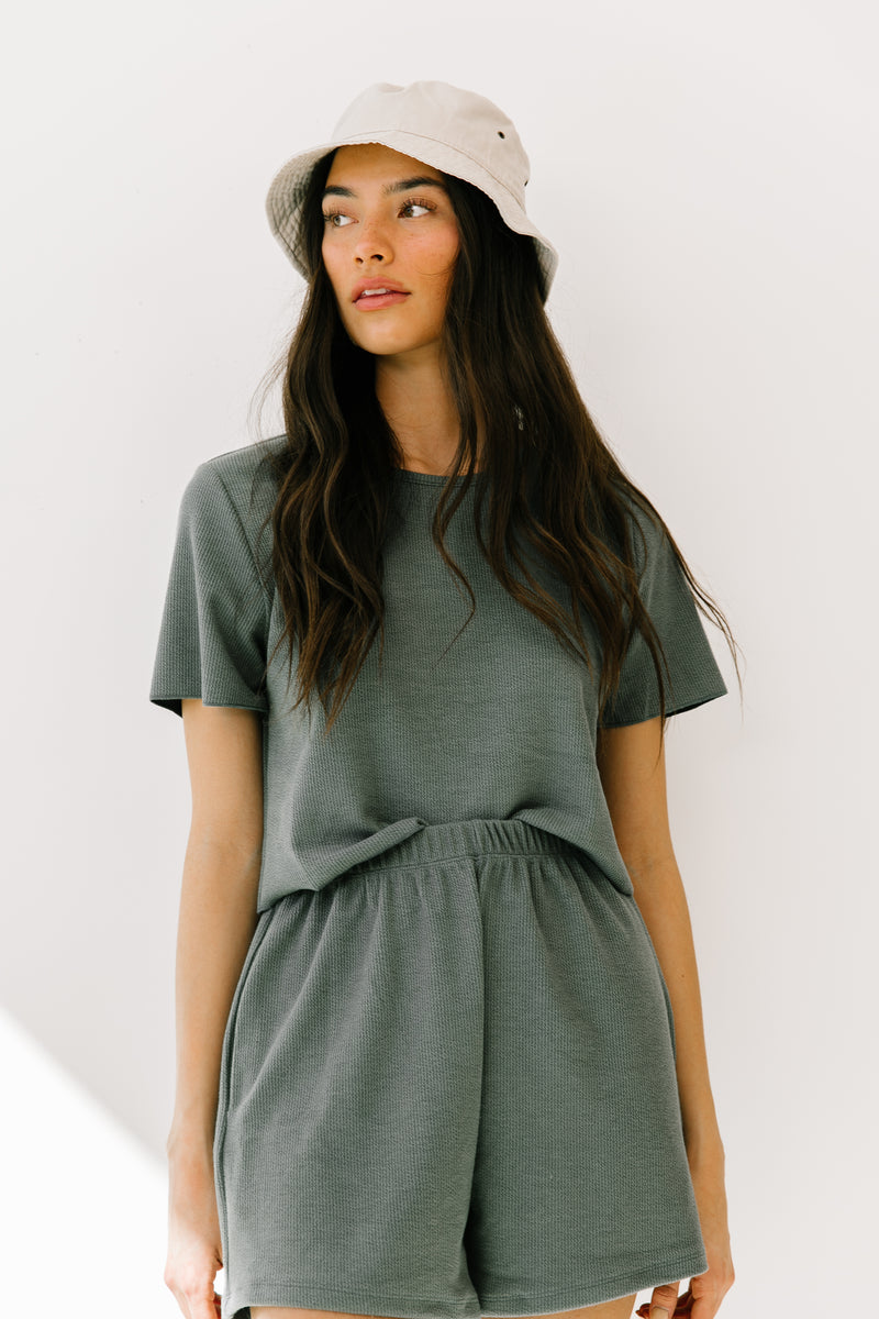 Pernille Teal Top & Shorts Set - Luca + Grae