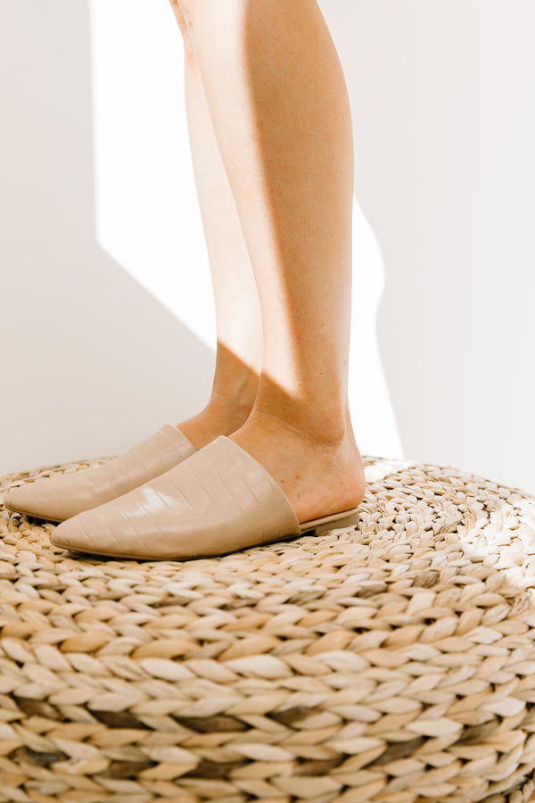 Swirl Light Taupe  Mules - Luca + Grae