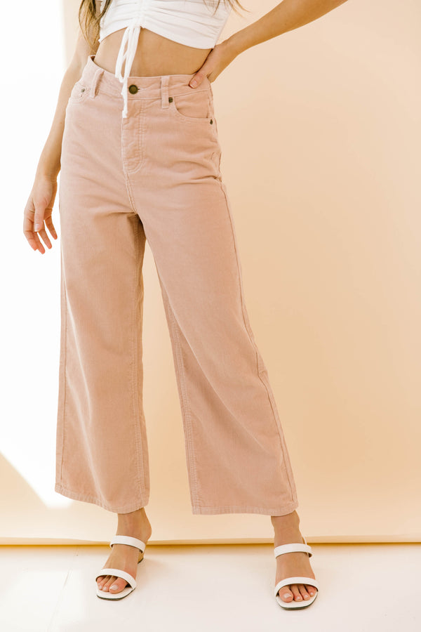 Poppy Woven Blush Pants - Luca + Grae